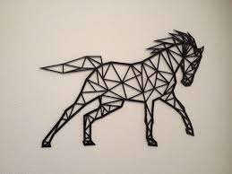 horse line art wall art 3d print 155481 on 3d printer wall art with 3d printed horse line art wall art by flowtero pinshape