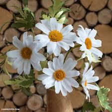 Daisy Paper Flower Diy Easy Crepe Paper Daisy Flower Video Tutorial