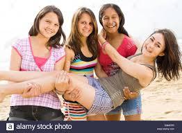 Girls having fun real teens