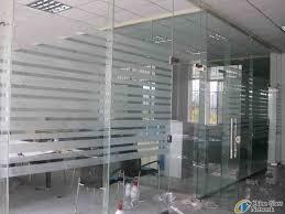 sandblasting glass wall and door