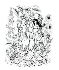 Fairies Coloring Pages Fairies Coloring Pages For Adults Detailed