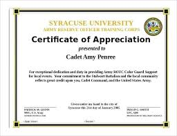 Sample Template Of Certificate Appreciation Awesome Word Doc
