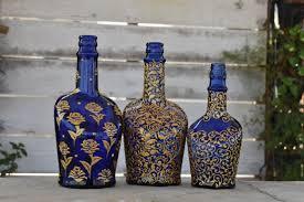 Bottle Painting Designs Images Floral Motifs