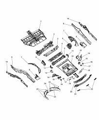 2012 dodge durango center rear floor pan diagram i2287627