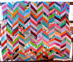 Chevron Quilt Pattern Impressive QAYG Chevron Quilt Tutorial Made By Marzipan