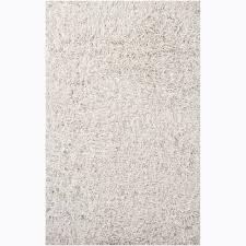 white shag rug. Hand-woven Duketi White Shag Rug (5\u0026#x27; X 7\u0026#x27