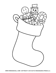 Small Picture Stocking Coloring Page Printable Stocking Coloring Page
