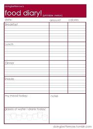Free Workout Template Exercise Journal Food Log Calendar