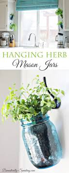jar crafts home easy diy: if you are a fan of gardening these diy hanging herb jars are a great way to brighten your kitchen your local goodwill is a great place to find mason jars