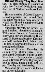 Obituary for Millard Wesley Burton (Aged 75) - Newspapers.com