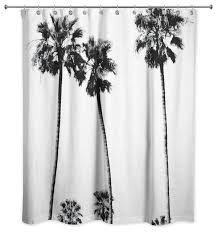 black and white palm trees shower curtain tropical shower curtains by designs direct
