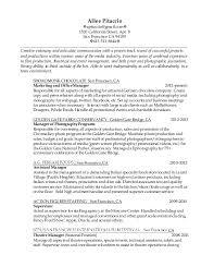 Film Producer Sample Resume Simple SECgov Introduction To 44 Plans Sample Resume For Tv Production