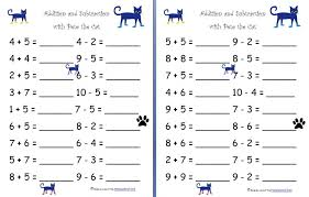 Addition and Subtraction with Pete the Cat (Free Worksheets ...
