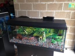 3 5 ft juwel fish tank full set up with stand light heater filter gravel ornament all