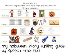 my halloween story writing telling guide  and retelling skills i have created a fun guide to create a halloween story i used clip art from microsoft office as well as from scrappin doodles