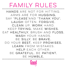 family rules good housekeeping