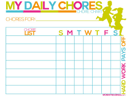 Chore Sticker Chart Printable Free Printable Kids Chore And Rewards Chart Printable