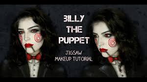 jigsaw billy the puppet makeup tutorial