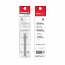 Лезвия <b>ErichKrause</b>® для <b>канцелярского ножа</b>, 18мм (в пакете по ...