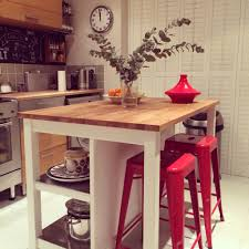 Ikea Stenstorp Kitchen Island Stenstorp Island From Ikea With Red Tolix Style Chairs Just Needs
