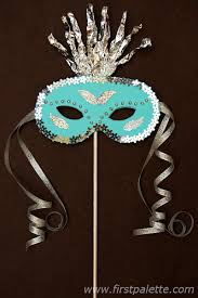 Decorating A Mask Masquerade Mask Craft Kids' Crafts FirstPalette 12