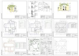 Курсовые и дипломные проекты коттеджи дачи скачать котедж в dwg  Курсовой проект Индивидуальный жилой дом в г