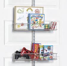 platinum elfa utility kid s closet door wall rack with wire baskets