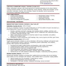Elementary Teacher Resume Examples 2014 Fine Best Teacher Resumes 24 Pattern Documentation Template 12