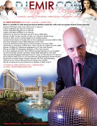 Dj Emir Press Kit Media Coverage Of One Of The Worlds Best Djs