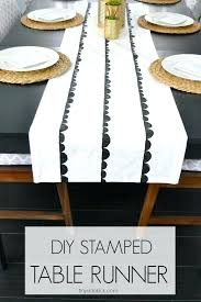 diy table runner stamped table runner and never believe what diy table runner ideas