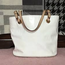 michael kors white patent leather purse m 5aa173ab8af1c59379a54e76