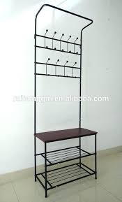 Shoe Coat Hat Racks Extraordinary Metal Hall Tree Coat Rack Coat And Hat Racks Black Metal Entryway