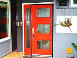 modern front door orange. Modern Entry Doors For Home Mid Century Front Depot Door Orange