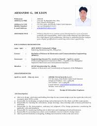 Latest Resume Format Sample In The Philippines Refrence Latest