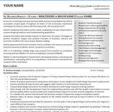 Business Analyst Profile Resume Resume Sample Template And Format