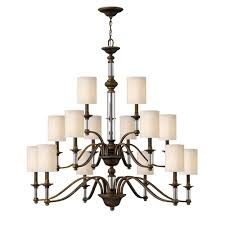 sus 3 tier 15 light chandelier by hinkley lighting image 2