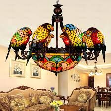 fresh decoration stained glass dining room light
