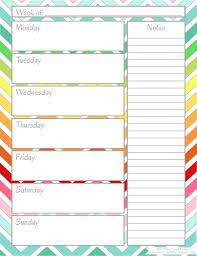 Printable Weekly Calendar Template Blank Week Template Weekly Calendar Printable Print Fun 9