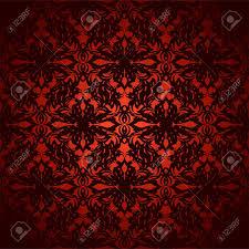 Helder Rood En Zwart Abstracte Florale Geïnspireerd Wallpaper