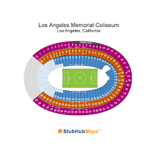 Los Angeles Coliseum Seating Chart Los Angeles Memorial Coliseum Events And Concerts In Los