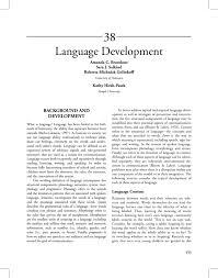 Language Development University Of Delaware