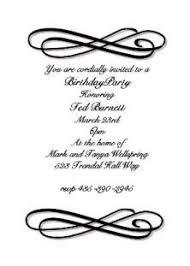 Formal Birthday Invitation Card Formal Birthday Invitations