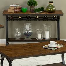 sofa table with wine storage. Master Wine Rack Console Table Tables â\u20ac¹ Rantuk Just Another Harpers Press Sofa With At Hayneedle Photograph Metal Furniture Bar Storage Bins Cabinet