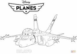 Disney Planes Jet Fighter Bravo coloring page | Free Printable ...