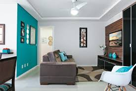 ... Living Room Ideas Small Space Decorating With Modern Style Interior  Blue And Gray Design Wall And ...