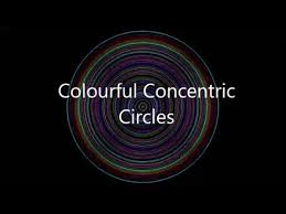 Animation Circles Colorful Concentric Circles Animation C Program Youtube