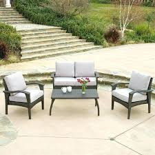 garden treasures palm city 5 piece steel patio conversation set garden treasures 5 piece palm city