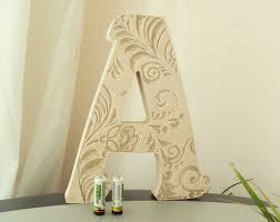 3 Concrete Letters BLESSED Sign FULL WORD Free StandingLetter S Home Decor