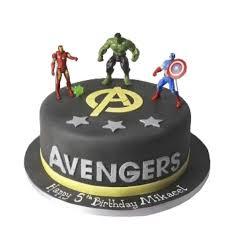 Superheroes Avengers Birthday Cake