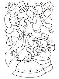 Kleurplaten Paradijs Kleurplaat Dansende Sneeuwpoppen